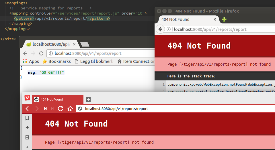 Controller mappings - 200 OK in Chrome - 404 Not found in